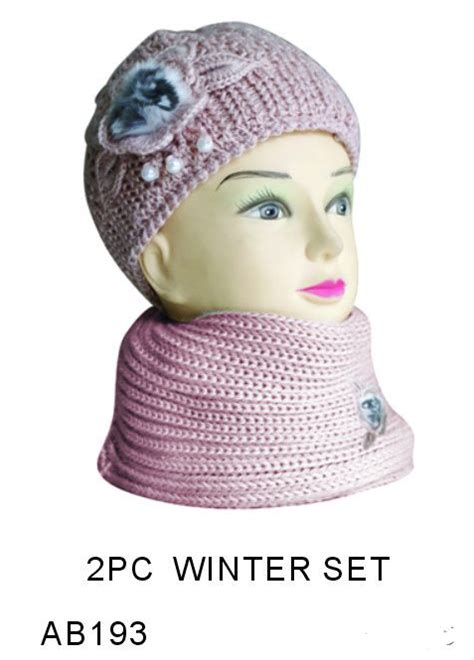 wholesale winter sets hat and scarf winter set