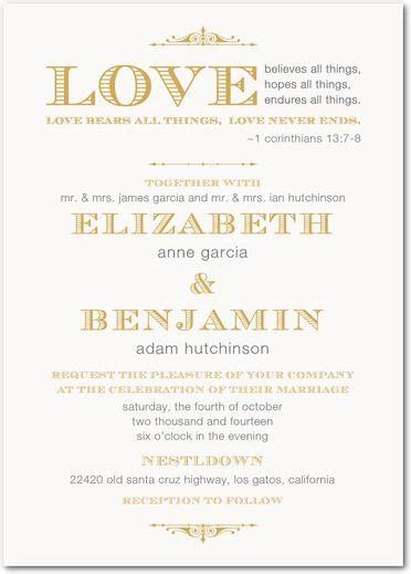 Biblical Verses For Wedding Invitations