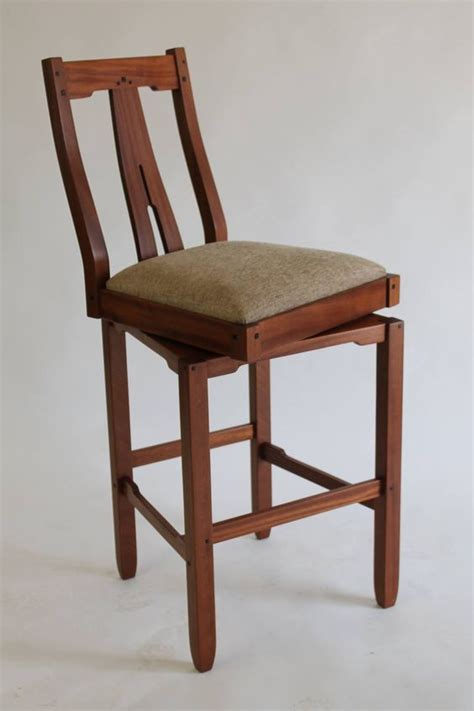 Arts And Crafts Style Bar Stools by Greene And Greene Style Swivel Bar Stool Brian Brace