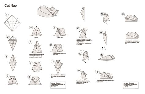 How To Fold An Origami Cat - 1000 images about origami on origami cat
