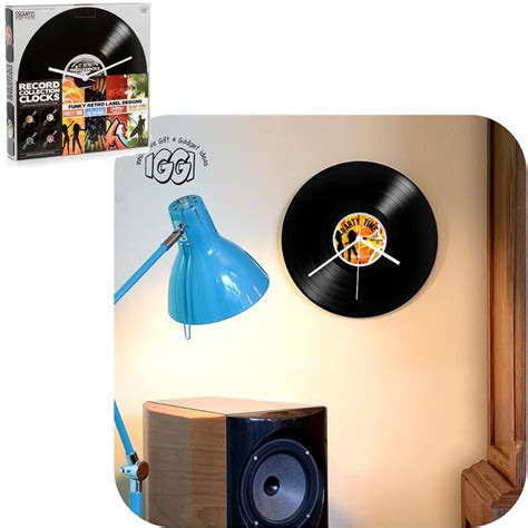 Novelty Home Decor by Novelty Retro Record Collection Wall Clocks Clock Home