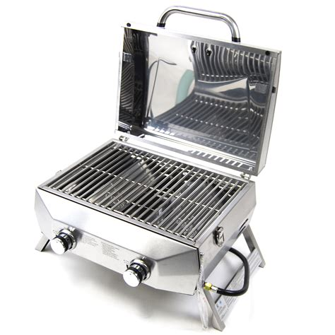 Table Top Bbq Grills by Superspace 20000 Btu 2 Burner Stainless Steel Tabletop