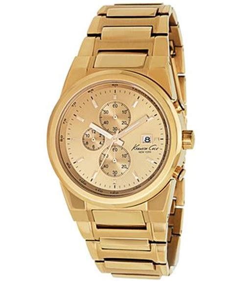kenneth cole new york s chronograph gold