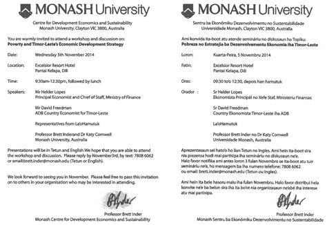 Release Letter Monash La O Hamutuk
