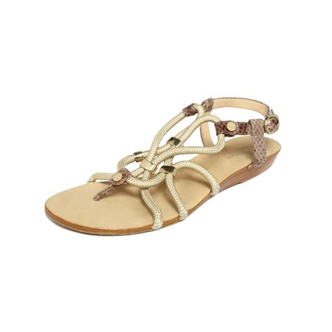 klein sandals lyst calvin klein bayley flat sandals in