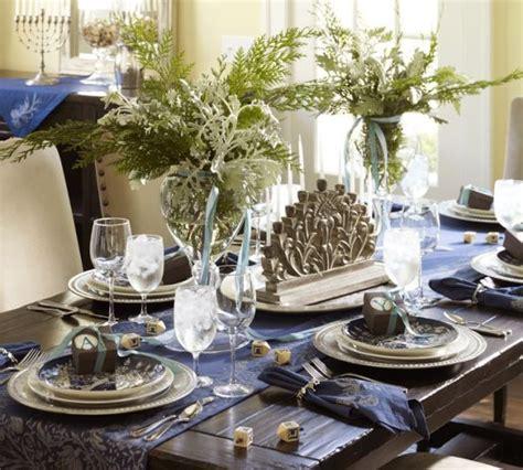 holiday decor ideas  hanukkah table settings