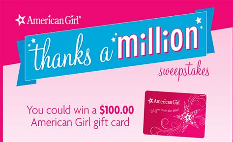 American Girl Gift Card - thrifty momma ramblings win 100 american girl gift card giveaway 100 winners
