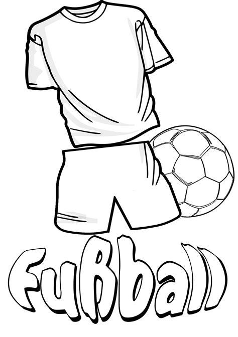 Kostenlose Vorlagen Für Geburtstagseinladungen Malbild Fussball Trikot Und Fussball Ausmalen Fu 223