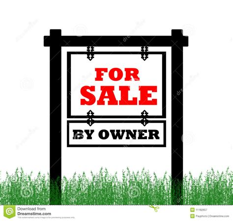 real estate home for sale sign royalty free stock