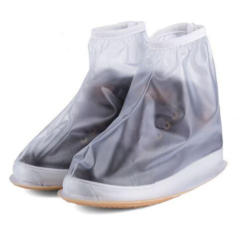 shoe covers white waterproof pvc durable flattie shoe