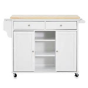 buy baxton studio meryland modern kitchen rolling island cart in white from bed bath beyond