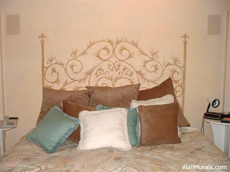 headboard painted on wall master bedroom wall murals