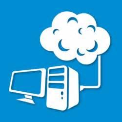 ordinateur de bureau de liaison avec le nuage