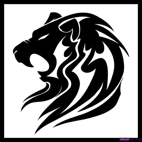 simple lion tattoo designs how to draw a tribal step by step tribal pop