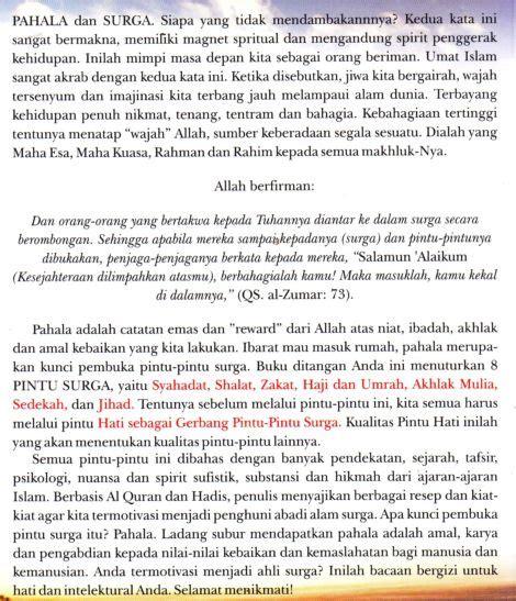 Problematika Pemikiran Arab Kontemporer Mohammad Abed 8 pintu surga ibadah