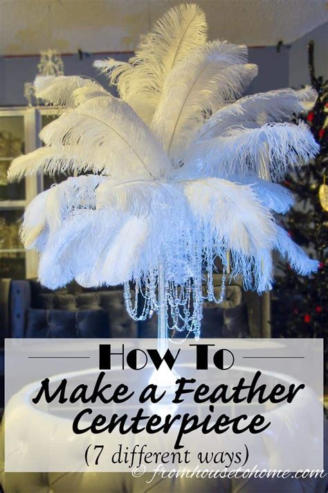 diy how to make ostrich feather centerpieces plus 7