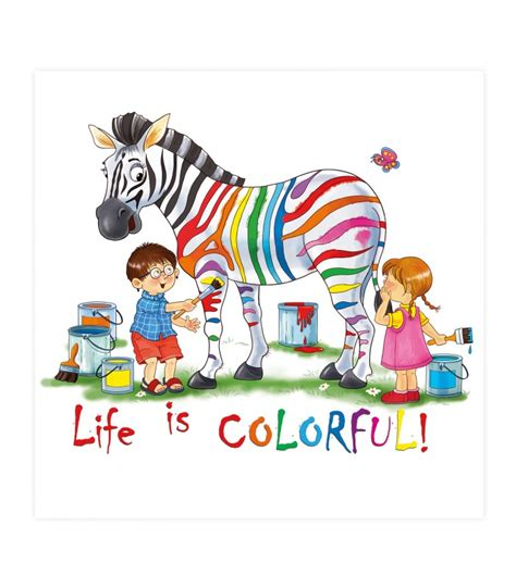 bild kinderzimmer zebra 017 kinderzimmer bild zebra bunt poster plakat