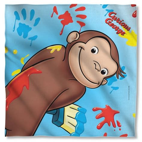 painting curious george curious george paint bandana