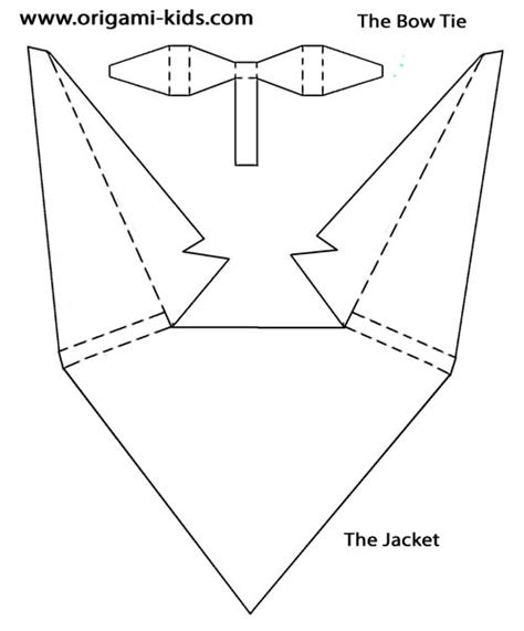Origami Suit By Jonathan Shackleton Paper Tuxedo Template