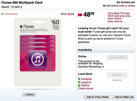 Future Shop Gift Card Online - itunes 60 multipacks on sale for 20 off at future shop iphone in canada blog