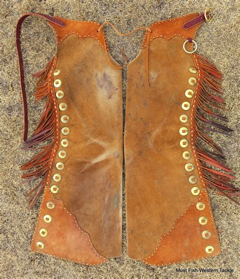 Handmade Cowboy Chaps - handmade step in bell out chaps brass conchos