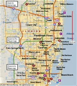map of florida miami and fort lauderdale city of miami