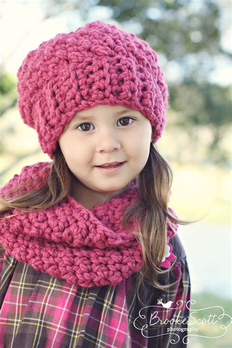childrens crochet mesh scarf