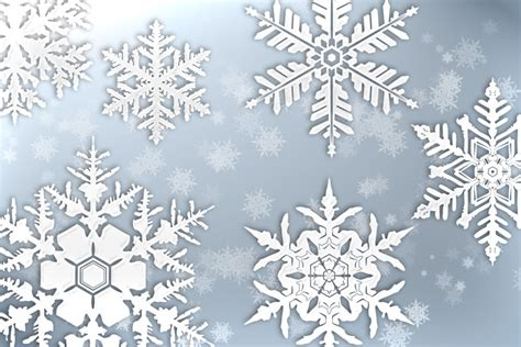 snow pattern brush snowflakes brush pack 1 design panoply