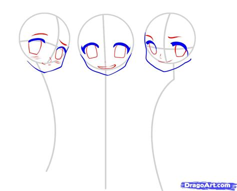 how to draw japanese anime step by step anime characters
