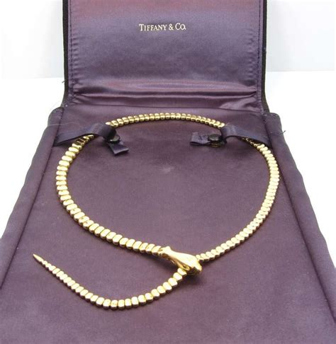 Elsa Peretti For Tiffany and Co. Yellow Gold Snake Necklace at 1stdibs