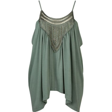 Green Nadya Tank Top 143 best my polyvore finds images on high