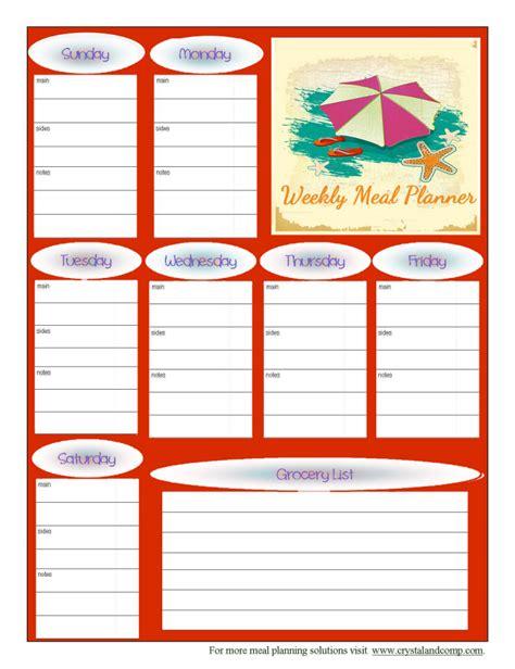 popsugar printable meal planner free printable meal planner august 2014