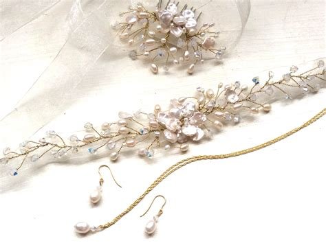Handmade Jewellery Kent - bridal hair accessories wedding hairvines handmade