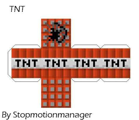 Minecraft Tnt Papercraft - minecraft paper craft paper crafts