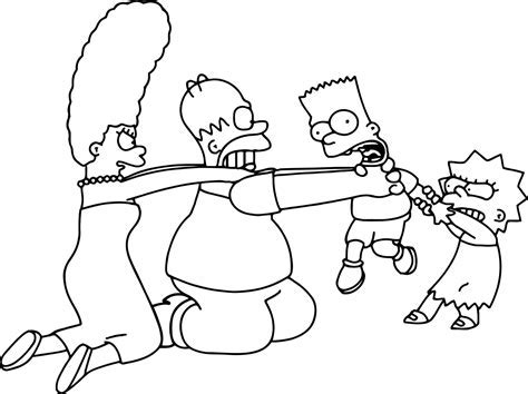 Image Gallery Homer Simpson Coloring Pages