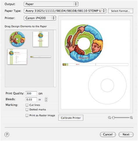 Printing Disc Labels With Toast 8 Titanium Myroxio Roxio Label Creator Templates