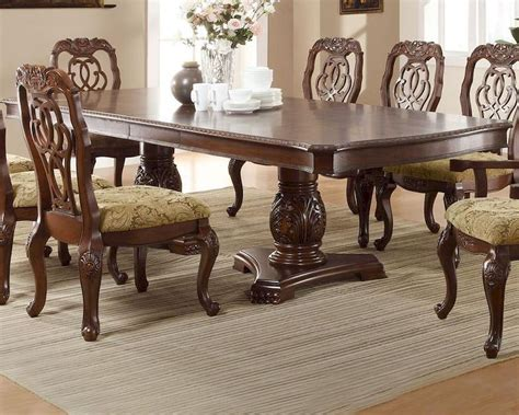 homey design off white 12 pc traditional dining room set traditional dining table designs homey design white 12 pc