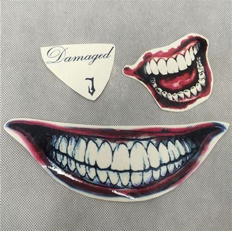 joker mouth tattoo damaged j suicide squad joker jared leto temporary face