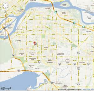 map of surrey bc canada