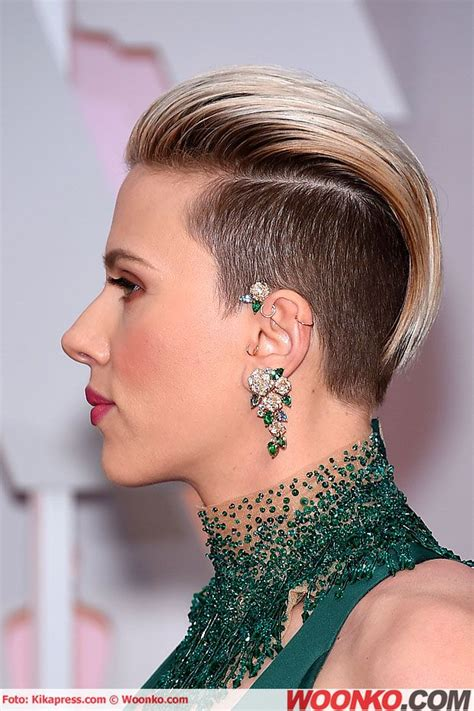 scarlettjohanssonhaircut at the oscars 17 best images about piercing on pinterest daith