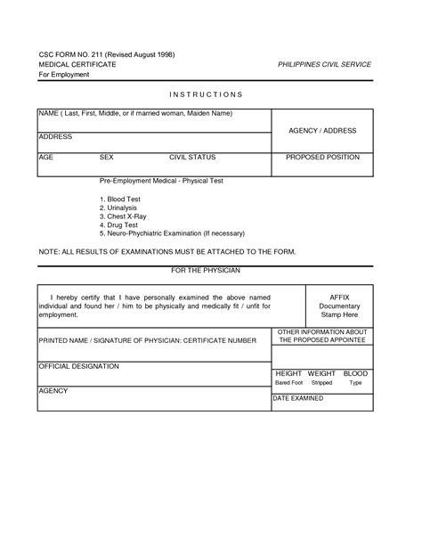 10 best images of sle medical certificate form