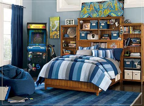 modern blue color scheme for boys bedroom iroonie