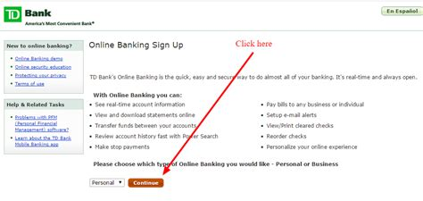 tb bank log in td banking personal banking td canada trust