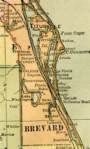 Map Of Brevard County Florida by Brevard County 1909