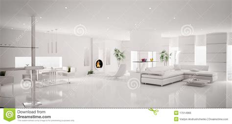 white apartment interior of white apartment panorama 3d stock illustration