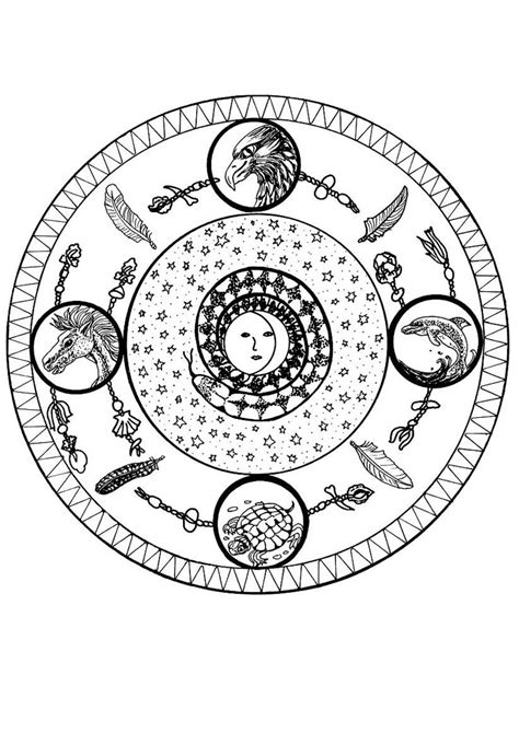 elements mandala coloring pages hellokidscom