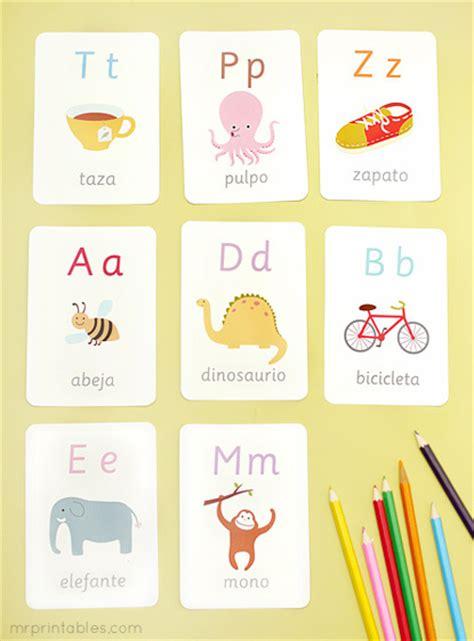 mr printable alphabet flash cards spanish alphabet flash cards mr printables