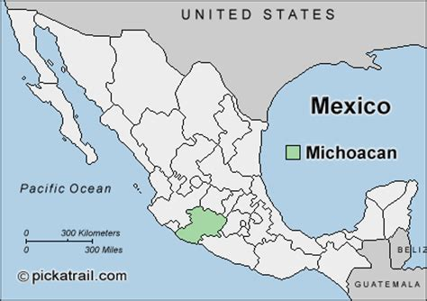 map of michoacan mexico state maps map of mexico michoacan mexico map