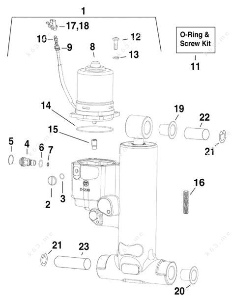 Evinrude 2012 115 E115dhlina Trim Amp Tilt Hydraulic