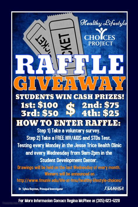 Raffle Drawing Flyer Template florida memorial 187 hlc raffle giveaway
